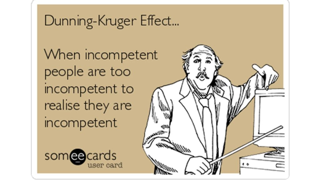 Dunning-Kruger Effect... When incompetent people are too ...